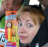 Inelegant Emily discovers a look-alike Pez dispenser