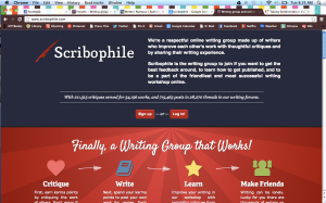Scribophile Screenshot