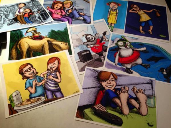http://writersrumpus.com/2014/03/28/illustration-friday-a-portfolio-building-tool/