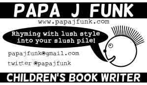 Papa J Funk Old Business Card