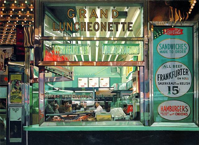 Richard Estes, Grand Luncheonette, New York City