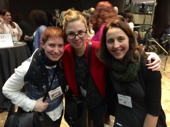 Jen Varn, Nancy Goulet, and me at the SCBWI 2015 NY Winter Conference (photo by Debbie Ohi)