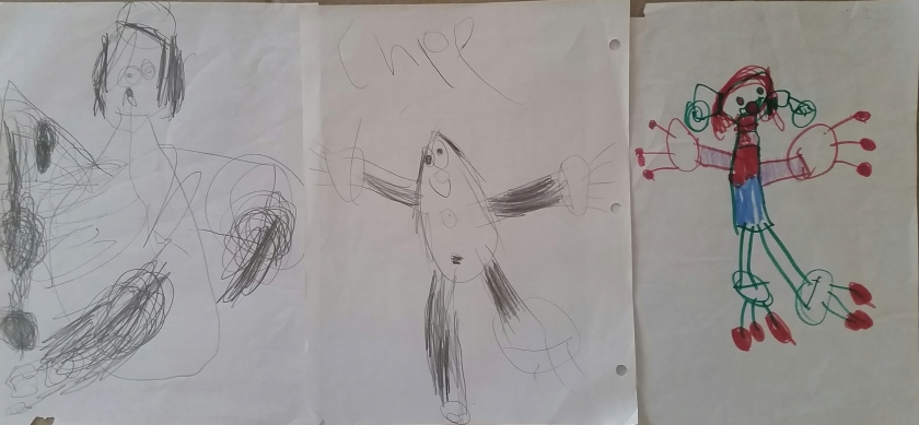 My daughter Chloe's art evolution.