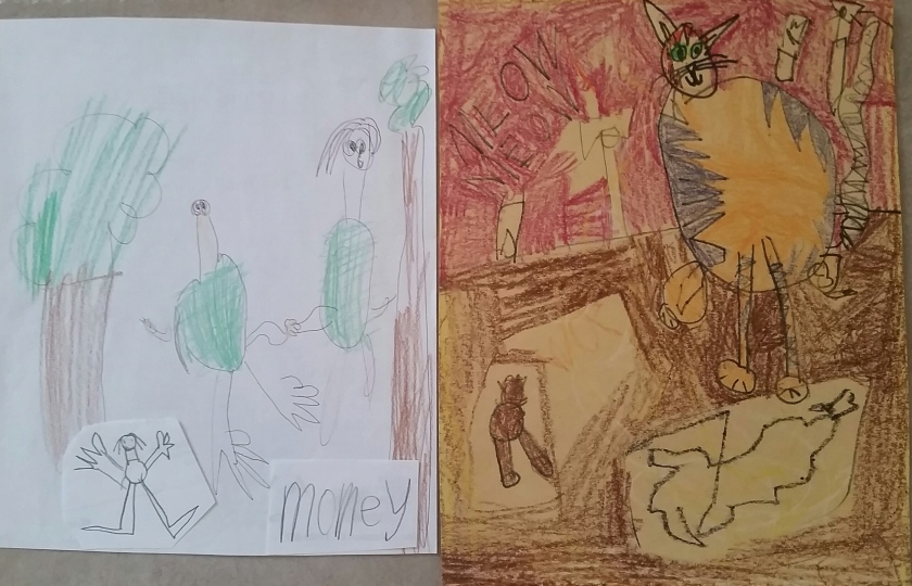 Art samples from my son Eric's early years.