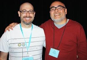 Josh Funk meets 2015 Caldecott Medalist Dan Santat
