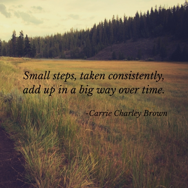 """""""Small steps, taken consistently, add up"""