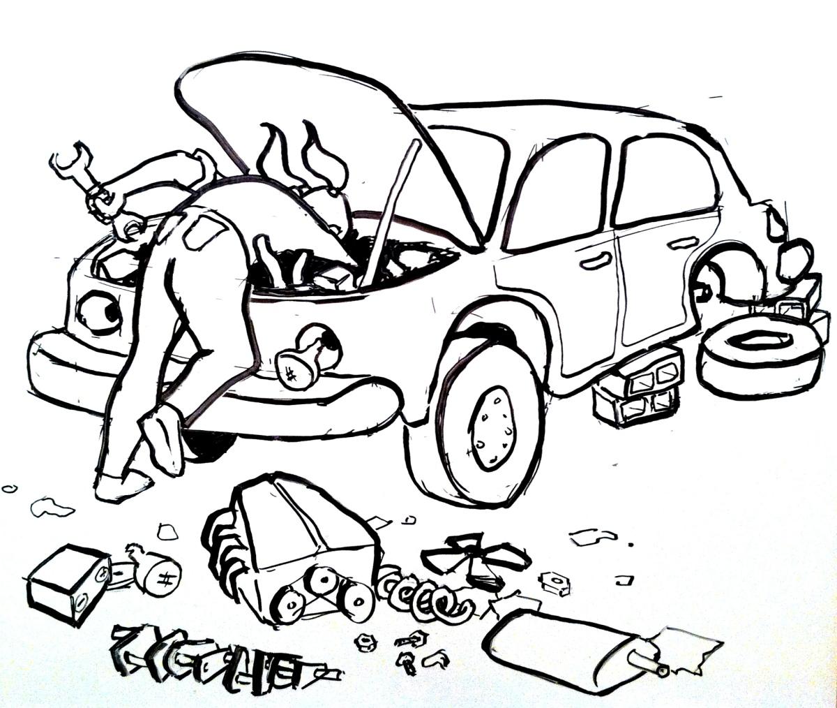 On Car Repair and Rewrites