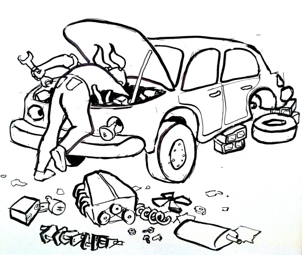 Car repair, novel repair, it's all the same. Right?