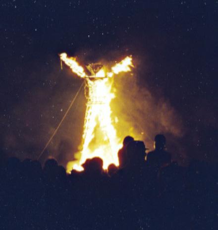W the Burning Man