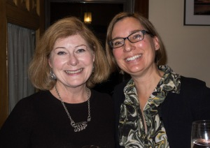 Carol and Teri. Author/Illustrator party. Oct. 16, 2016 - At home in Merrimac, Massachusetts.