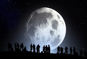 moon with people