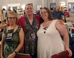 Morven Westfield, Dianna Sanchez, and T.J. Wooldridge at Readercon 2017