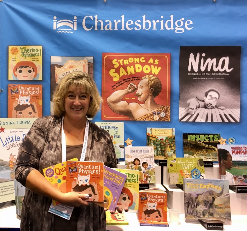 ruth at charlesbridge booth