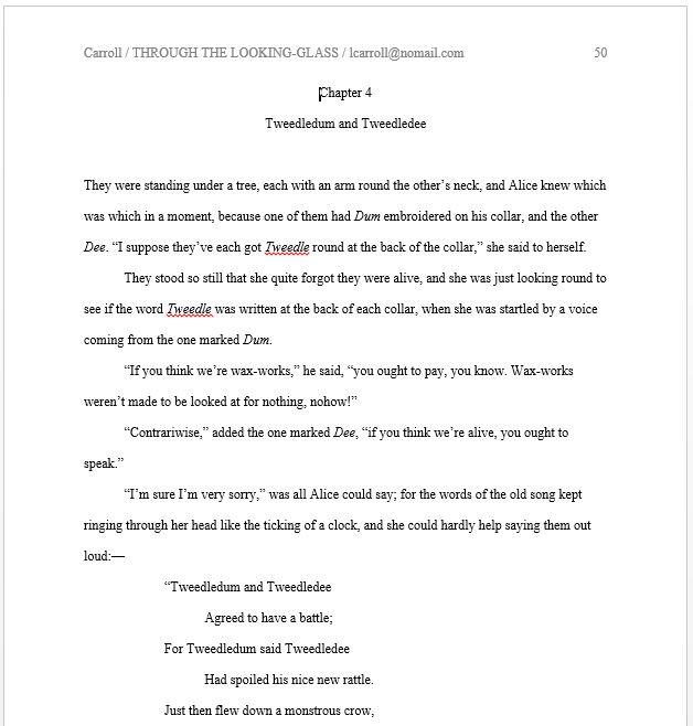 novel manuscript format sample