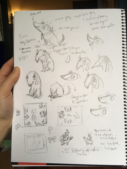 dog and cover sketches