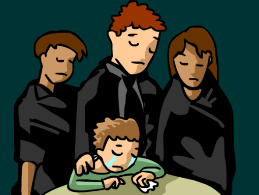 cartoon image of grief