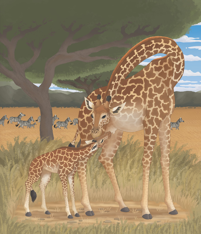W-Giraffe Paint + Background